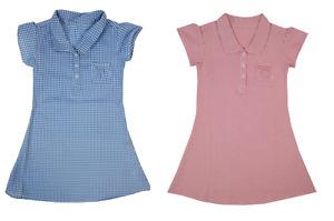 Girls Summer Dress Check Gingham School Summer Dress size 3-12 years