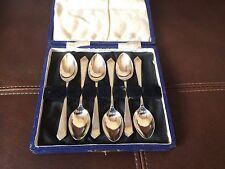 Vintage Set Of Silver Coffee Spoons In Case - Sheffield 1933 - James Dixon & Son