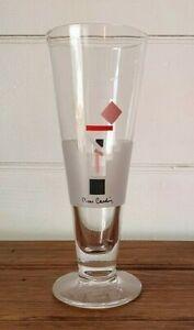 Vintage tall drinking glass Pierre Cardin barware bar alcohol 1980s DBT4