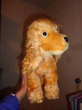 "Vintage Steiff Mohair Cockie Cocker Spaniel Puppy Dog Big 12"" Tall Button Tag"