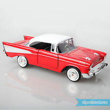 1957 Chevy Bel Air Red 1:24 Scale American Classic Premium Diecast Model Car