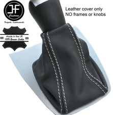 White Stitch Top Grain REAL LEATHER GEAR GAITER FITS FORD FOCUS C MAX 2003-2007