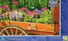NEW Puzzlebug 500 Piece Jigsaw Puzzle ~ Flower Cart  FREE SHIPPING