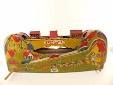 Cass Toys Rocky Express MT Train en bois ancien années 40/50 longueur 48 cm