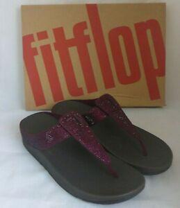 Fitflop Isabelle Toe Post Thong Crystal Diamante Beads Flip Flop Sandal UK6 EU39