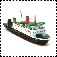1:250 Scale Caledonian MacBrayne MV Bute Ferry DIY Handcraft Paper Model Kit