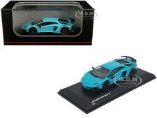 LAMBORGHINI AVENTADOR SV LIGHT BLUE 1/64 DIECAST MODEL CAR BY KYOSHO KS07065A1