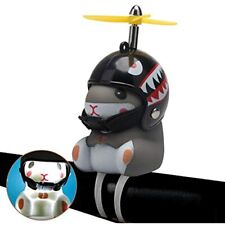 Wonuu Duck Bike Bell With Light And Helmet Cute Hamster Bicycle Horn, Dashboard
