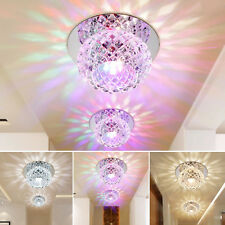 Crystal LED 5W Ceiling Light Fixture Pendant Lamp Lighting Chandelier Spot UK