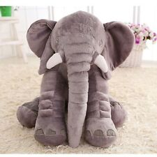 New Elephant Pillow Cushion Stuffed Doll Toy Baby Kids Soft Plush Lumbar Nose