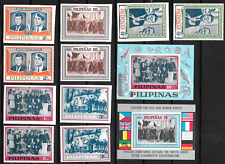 Philippines Kennedy Set MNH Perforated and Imperforated