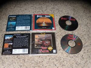 Aces of the Deep & Red Baron A-10 Tank Killer PC Games Near Mint