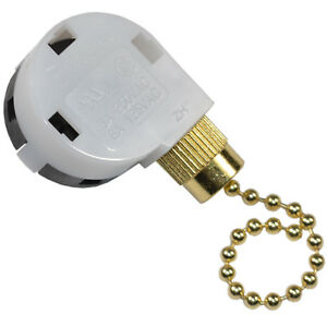HQRP Ceiling Fan Pull Chain 3-Speed 4-Wire Control Switch for Hunter Ceiling Fan