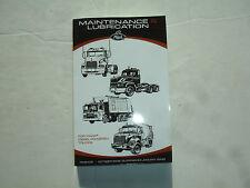 Mack Diesel Trucks Maintenance & Lubrication Service Shop Manual Guide TS49408