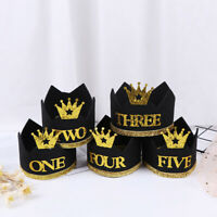 1Pc One First Birthday Crown Hats Cap Baby 1st 2nd 3rd Birthday Party Decor HU
