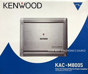 NEW KENWOOD KAC-M8005 Class-D 5-Channel Compact Digital Car/ATV/Marine Amplifier