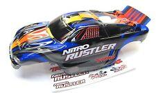 Nitro RUSTLER - Body Shell (BLUE & Silver) Cover ProGraphix 2.5 Traxxas 44096-3