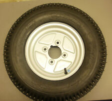 Pair of 10 inch Trailer wheels & 5.00/10 6Ply Tyres 4 inch PCD camping trailers