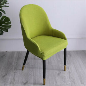 Dining Chair Armchair Hight Backrest Soft Seat Cover Removable Chair Slipcover