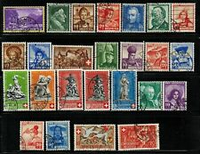 Switzerland #B90-115(x105) 1938-41 Used