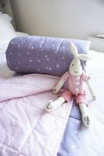 Adorable Reversible Bed Throw Baby & Child Single Throw Grey Stars & Pink