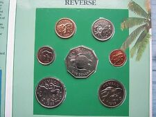 Tuvalu 1985 7 Coin 1 Cent - 1 Dollar BUNC Set sealed info folder by Royal Mint