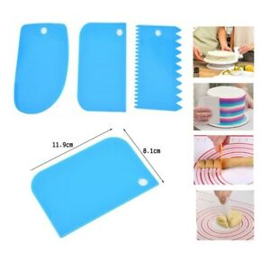 3pcs Cake Decorating Icing Scraper, Fondant Icing Smoother, Bread Dough Cutter