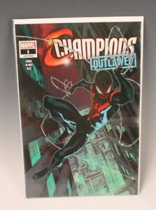 Champions Outlawed #1 Walmart Exclusive Miles Morales Variant (Marvel, 2020)