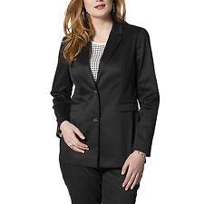 SCHWARZ SATIN ausgefallen Büro Business Anzug-Jacke Casual Gr.42/44 BLAZER