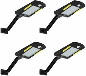 Solar Lights Outdoor, 48 Led Lamp, Wireless Waterproof Solar Flood Light, 4 Pack