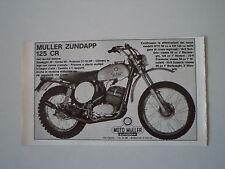 advertising Pubblicità 1973 MOTO MULLER ZUNDAPP 125 CR