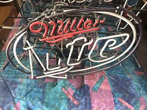 Miller Light Neon Sign Parts / Replacement Sale