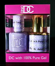DND DC Soak Off Gel Polish Aztech Purple 025 LED/UV 6oz 18ml Gel Duo Set NEW