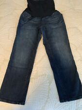 a pea in the pod maternity Crop Jeans Size  M Full Tummy Panel Good Condition