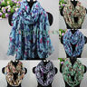 Butterfly&Insect Print Long Scarf Wrap Shawl/Infinity Scarf Snood Womens Scarf