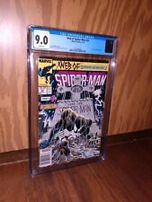 Web of Spider-Man #32 CGC 9.0 Newsstand White Pages + 8 raw comics