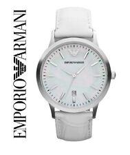 EMPORIO ARMANI AR2465 WOMENS WHITE LEATHER WATCH QUARTZ - BRAND NEW WITH TAGS