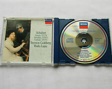 S.GOLDBERG-R.LUPU/SCHUBERT Sonatas-Fantasie.. W.GERMANY PDO CD DECCA 425 539-2