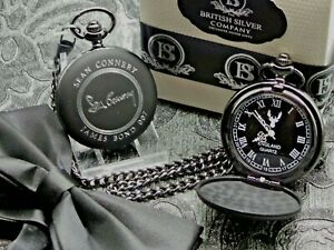 Signed SEAN CONNERY Pocket Watch and Chain LUXURY JAMES BOND 007 Autographed