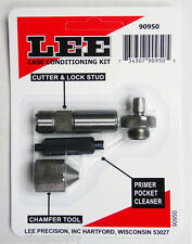 Lee Case Conditioning Kit Cutter Primer Pocket Cleaner Chamfer Tool NEW #90950