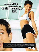 PUBLICITE ADVERTISING 014   1997   DIM  EMMA DE CAUNES slip soutien gorge 2