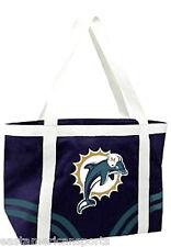 Miami Dolphins NFL Retro Canvas Tailgate Bag Purse Tote Beach Handbag Littlearth