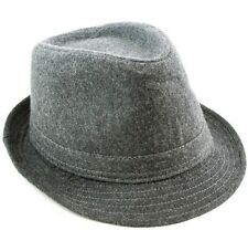 Cotton Fedora Hat Cap trilby Mens Gray Felt Womens Unisex fashion style NEW