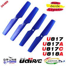Hélice Drone UDI U818 U817 U817C U817A U818A RC Quadcopter. Multicolores helices