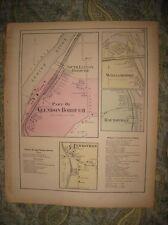 Antique 1874 Glendon Williamsport Raubsville Northampton County Pennsylvania Map