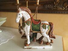 Pferd Horse Keramik Figur Skulptur  fein gearbeitet Edel H30 cm