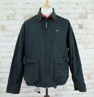 TOMMY HILFIGER Black Windbreaker Jacket size M
