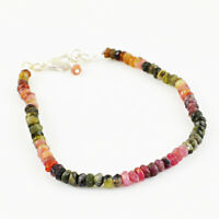 Jewelry & Watches Top 38.30 Cts Natural Untreated Hand Made Watermelon Tourmaline Beads Bracelet Traveling