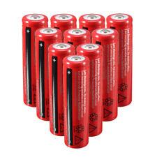 10 X 18650 3.7v 4200mah Li-ion Rechargeable Battery Flashlight Torch Red BT J1c6