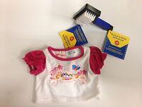 Genuine Build a Bear LaLaLoopsy T-shirt & Blue Pet Brush, Brand New!
